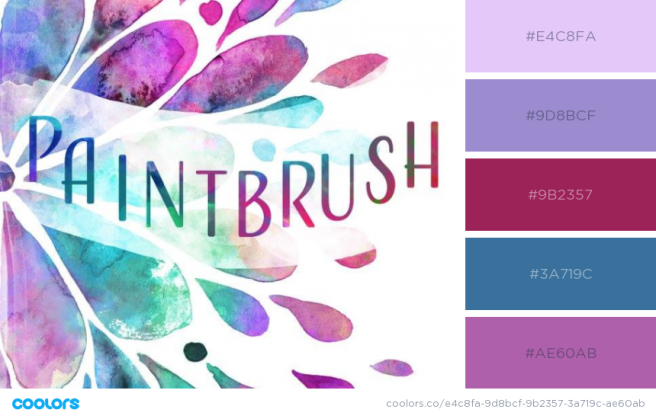 paintbrush color palette
