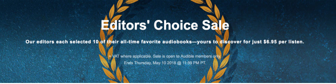 Audible Editors Choice Sale