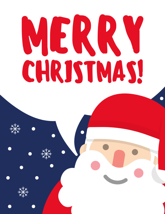 Santa Christmas Greeting Poster